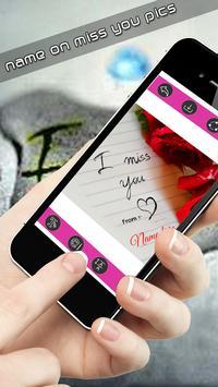 Write name on miss you pics apk screenshot