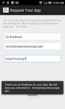 Request Your Application apk screenshot