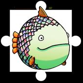 Greedy Fish Kids Jigsaw Puzzle icon