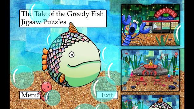 Greedy Fish Kids Jigsaw Puzzle poster