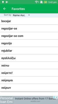 Greek Portuguese Dictionary screenshot 7
