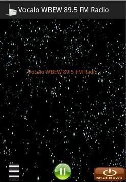 Vocalo WBEW 89.5 FM Radio poster