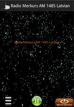 Radio Merkurs AM 1485 Latvian poster