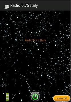 Radio 6.75 Italy poster