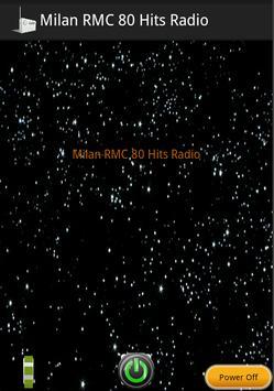 Milan RMC 80 Hits Radio poster