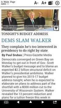 Green Bay Press-Gazette Print poster