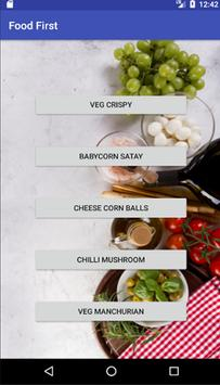 Food First -  food recipes for all apk screenshot