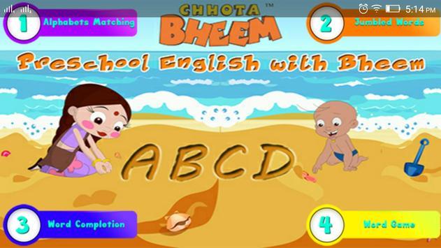 Basic English with ChhotaBheem apk screenshot