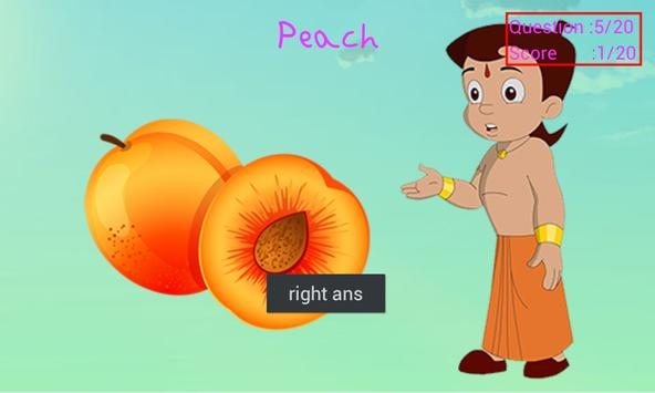 Learn Fruits with Bheem apk screenshot