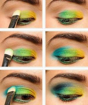 Green Eye Makeup Tutorials screenshot 1