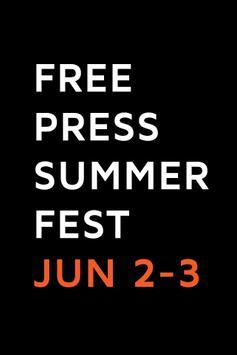 Free Press Summer Fest 2013 poster