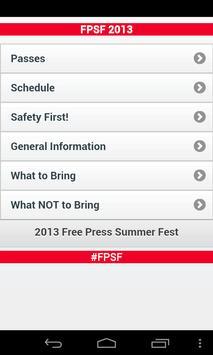 Free Press Summer Fest 2013 screenshot 1