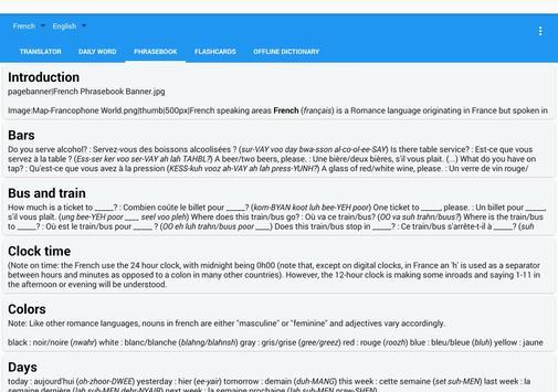 French English Translator Free screenshot 12