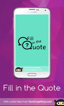 Fill in the Quote apk screenshot