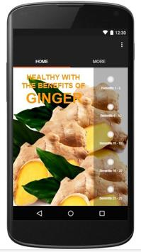 HEALTHY WITH THE BENEFITS OF GINGER poster