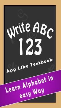 Write ABC 123 poster