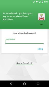 Green Pool: Instant Carpooling poster