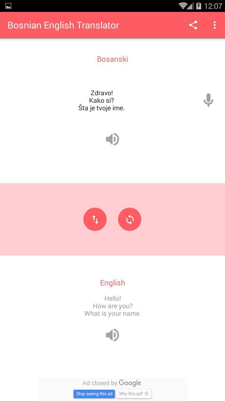 Bosanski Engleski Prevodilac For Android Apk Download