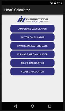 Inspection HVAC Calculator poster