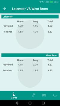 Gambling stats, corners, cards, goals. Betting. apk screenshot