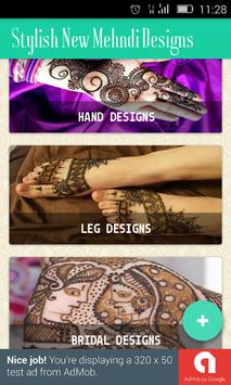 Stylish New Mehndi Designs poster
