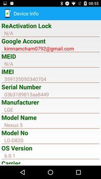 Phone Info screenshot 1