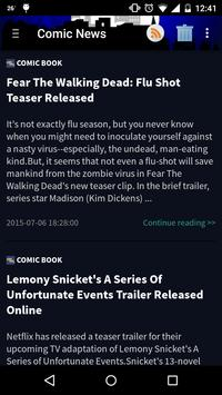 Comic and Movie News screenshot 1