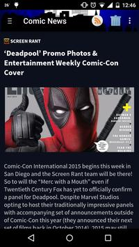 Comic and Movie News screenshot 2