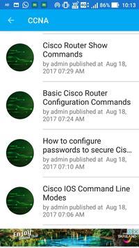 Networking Tutorials - (CCNA, CISCO, GNU/Linux) apk screenshot