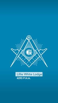 Lillie White Lodge #293 P.H.A. poster
