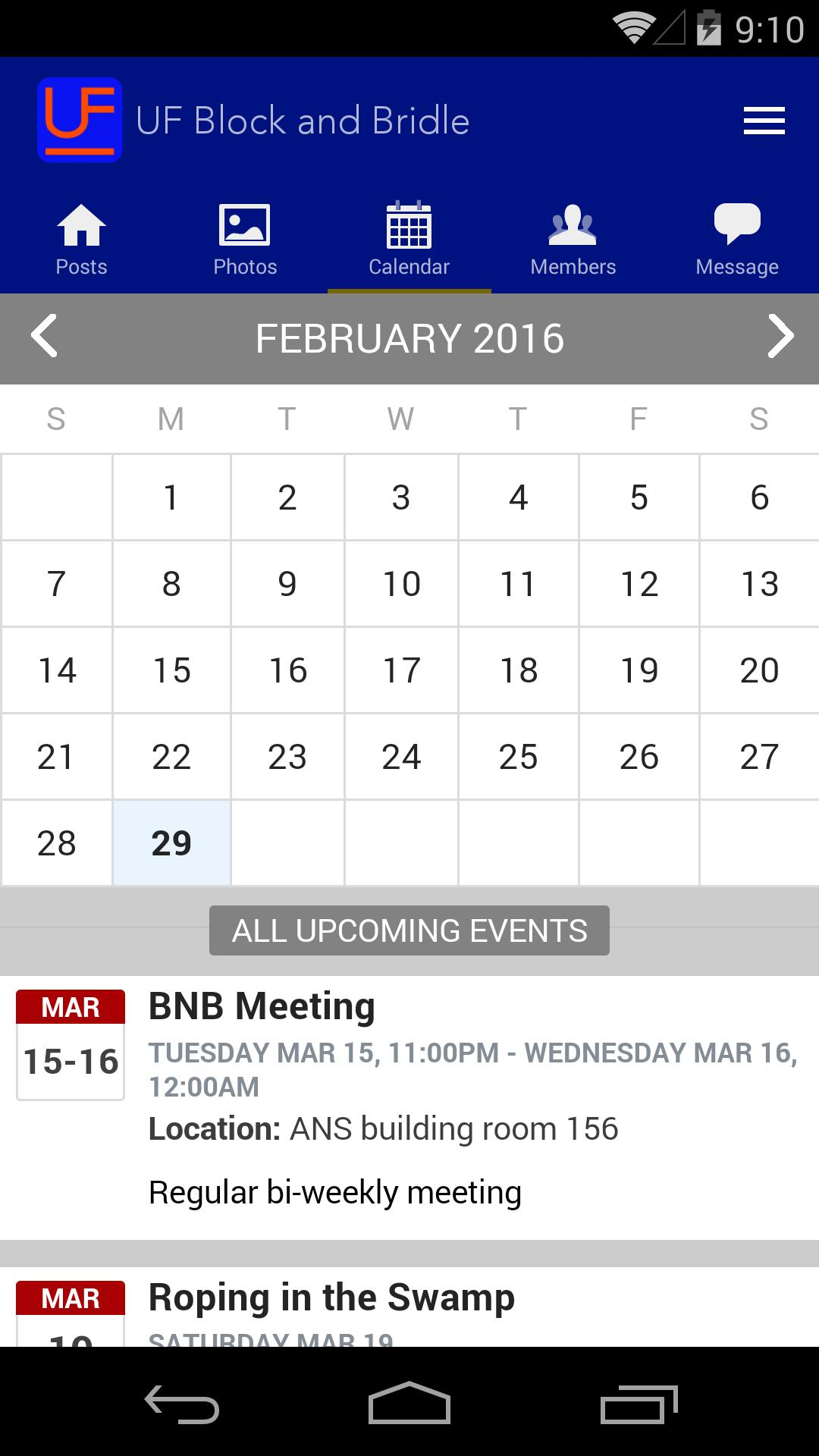 Uf Calendar Of Events.Uf Block And Bridle For Android Apk Download