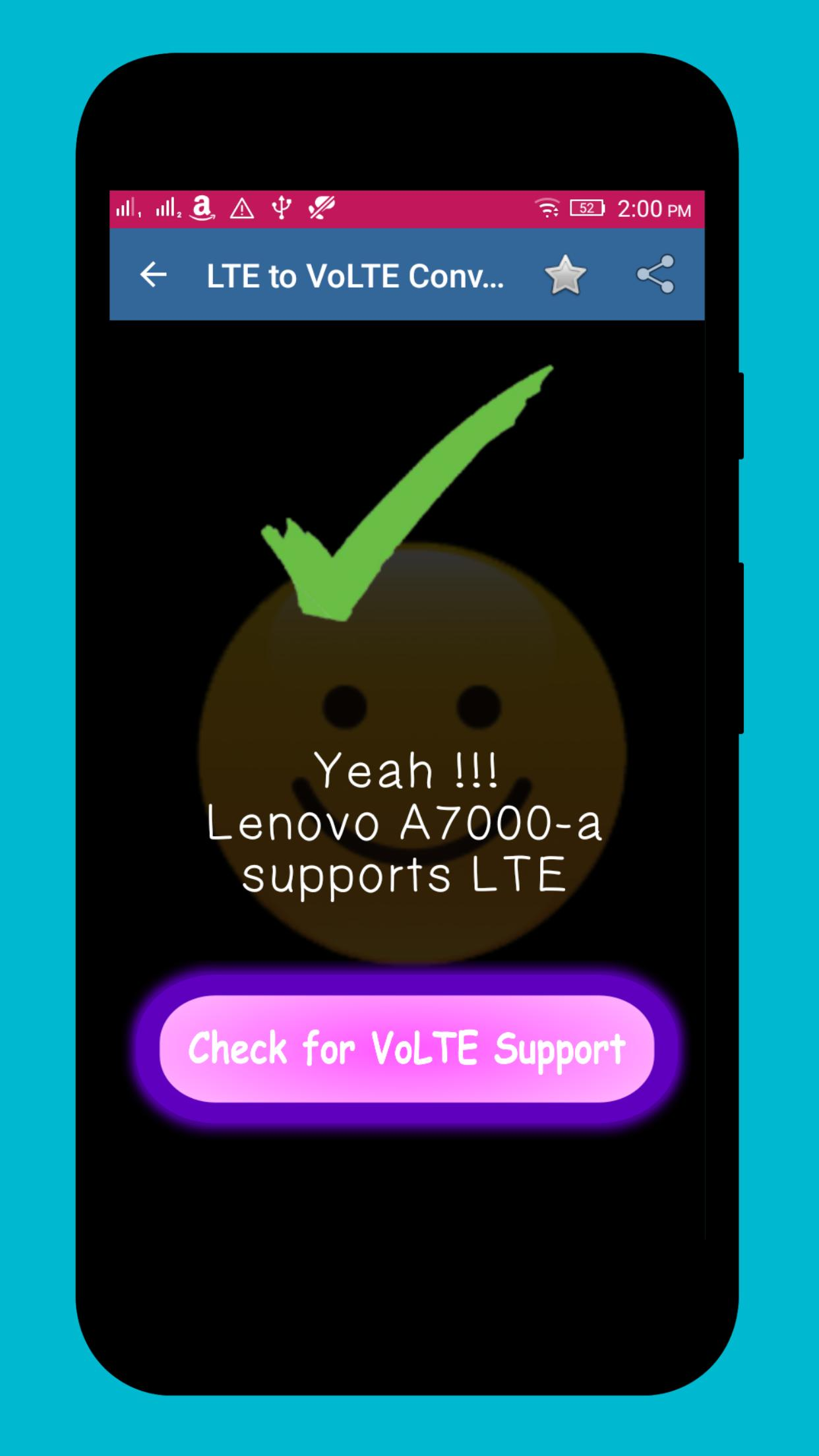 LTE to VoLTE Supporter PRO poster