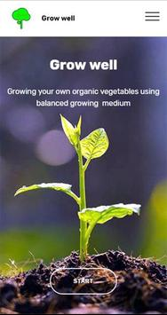 Grow well organically poster