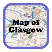 Map of Glasgow, Scotland icon