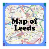 Map of Leeds, UK icon