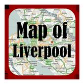 Maps of Liverpool, UK icon