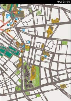Maps of Liverpool, UK poster