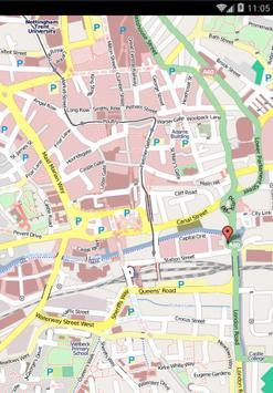 Map of Nottingham, UK apk screenshot