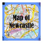 Map of Newcastle Upon Tyne, UK icon