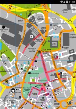 Map of Newcastle Upon Tyne, UK screenshot 1