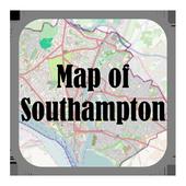 Map of Southampton, UK icon