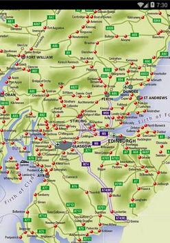 Maps of Scotland poster