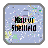 Map of Sheffield, England icon