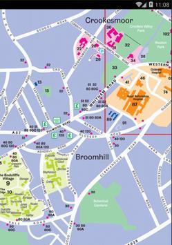 Map of Sheffield, England apk screenshot