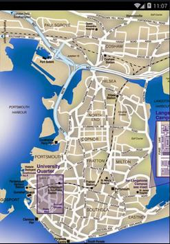 Map of Portsmouth, UK poster