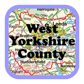 Map of West Yorkshire County icon