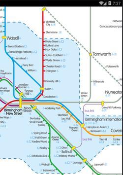 Birmingham Railway & Metro Map poster
