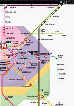 Leeds Transport Maps poster