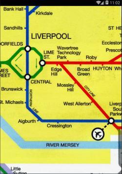 Liverpool TrainMap(Merseyrail) poster
