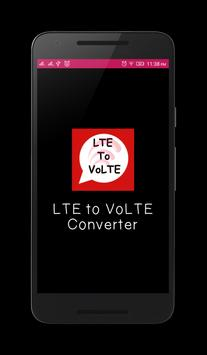 LTE to VoLTE Convert poster